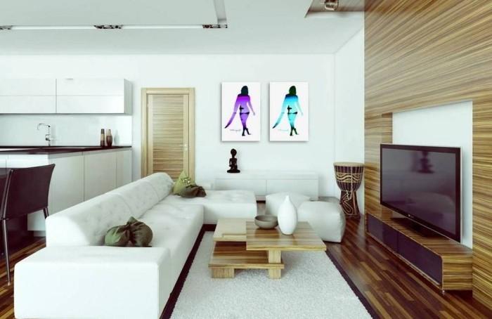 Квартира-студия с телевизором