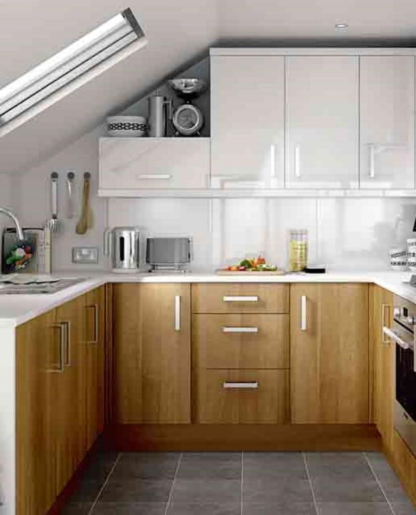 Дизайн кухни в мансардном этаже
