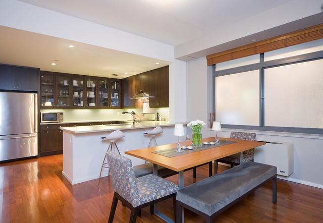 современная кухня-столовая