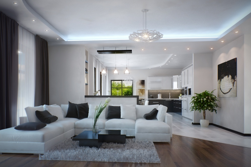 интерьер квартиры в стиле минимализм