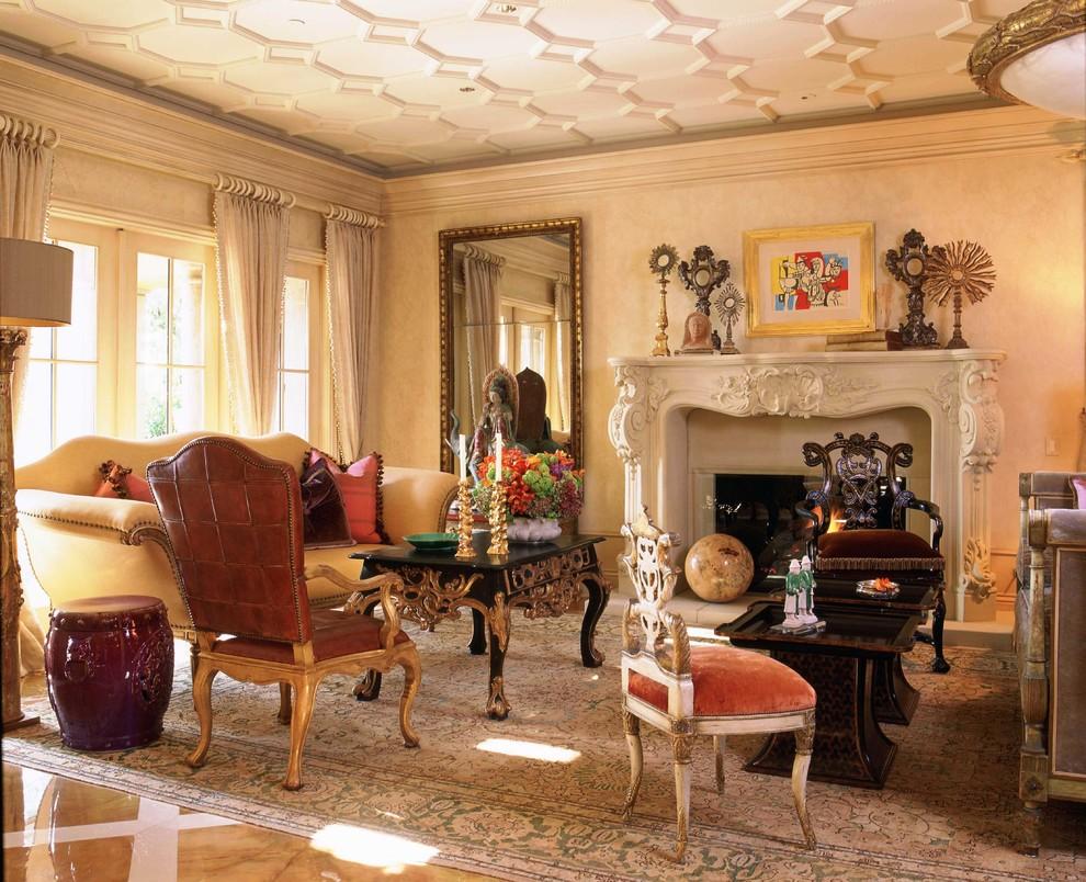 интерьер в итальянском стиле персикового цвета