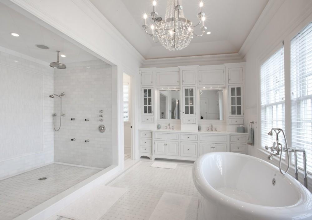 классическая ванна белого цвета