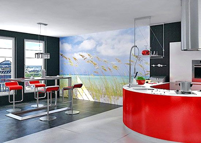 пейзажные фотообои для кухни