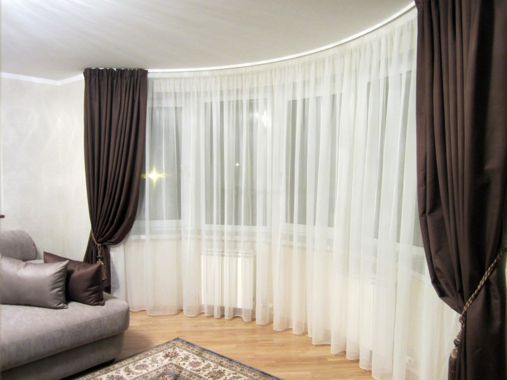шторы для светлого зала