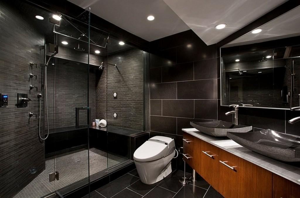 ванная комната черного цвета