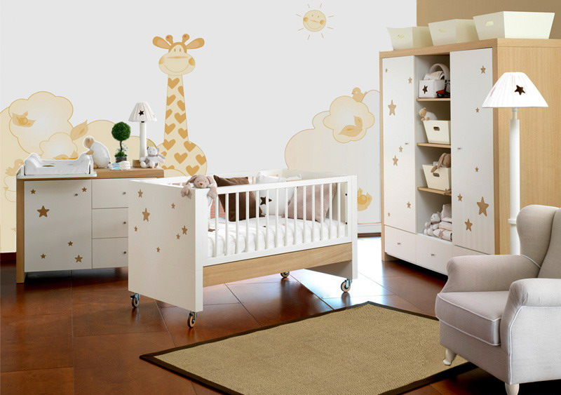детская комната в теплых тонах