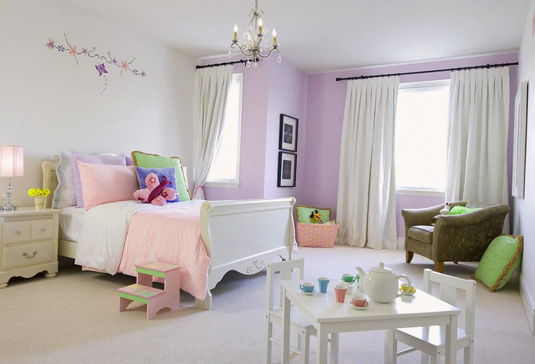 детская для девочки в фиолетовых тонах