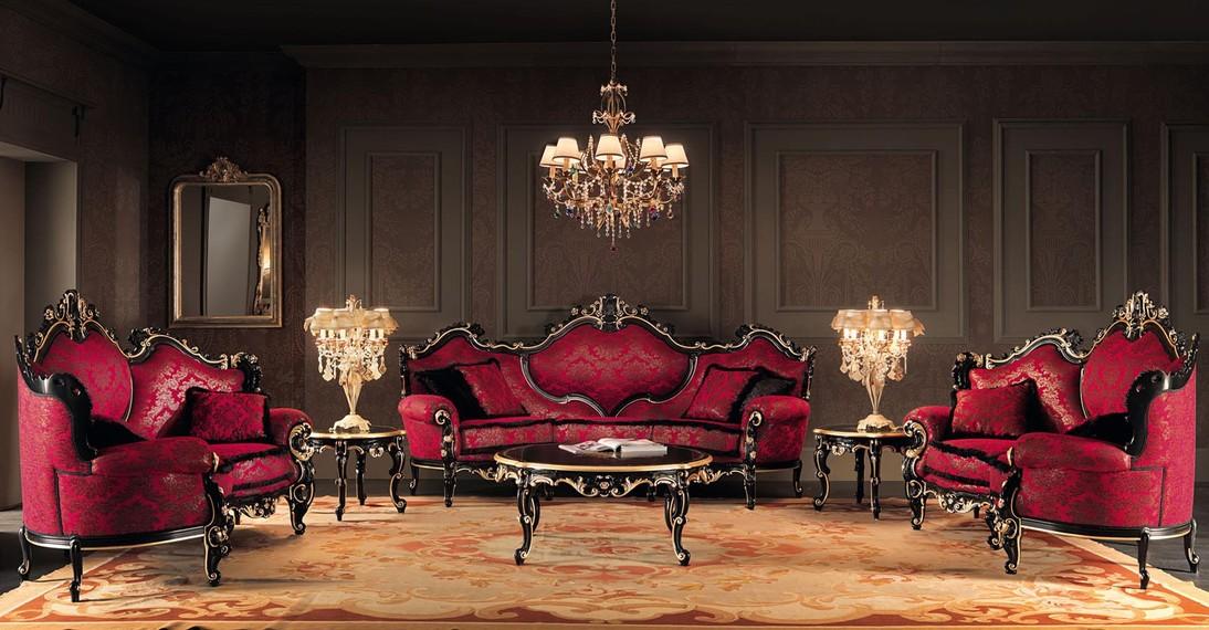 интерьер в стиле барокко с роскошной мебелью