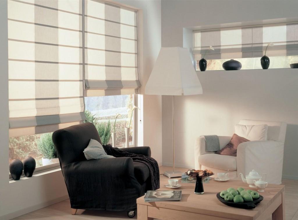 римские шторы для небольшой комнаты