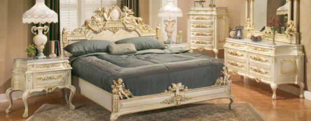 спальня в стиле рокко