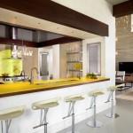 Жёлтая столешница - барная стойка