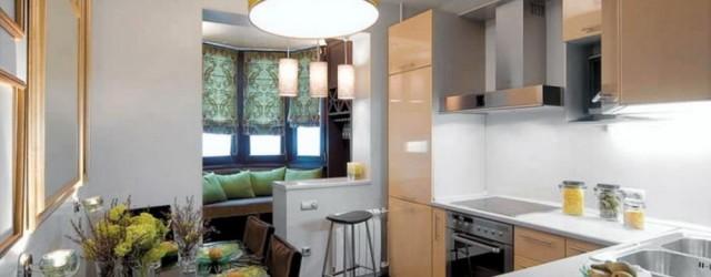 Кухня с лоджией с зоной отдыха