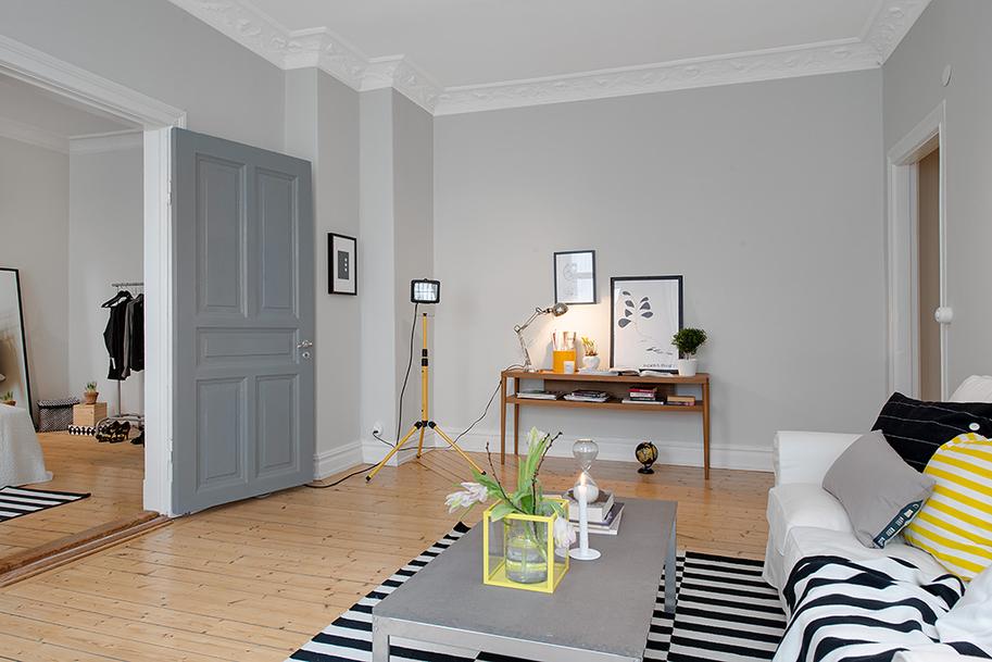 Квартира светло-серого цвета