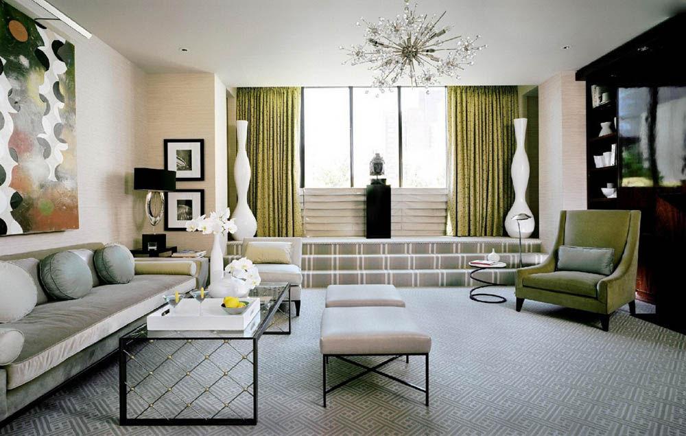Светлая комната в арт-деко стиле