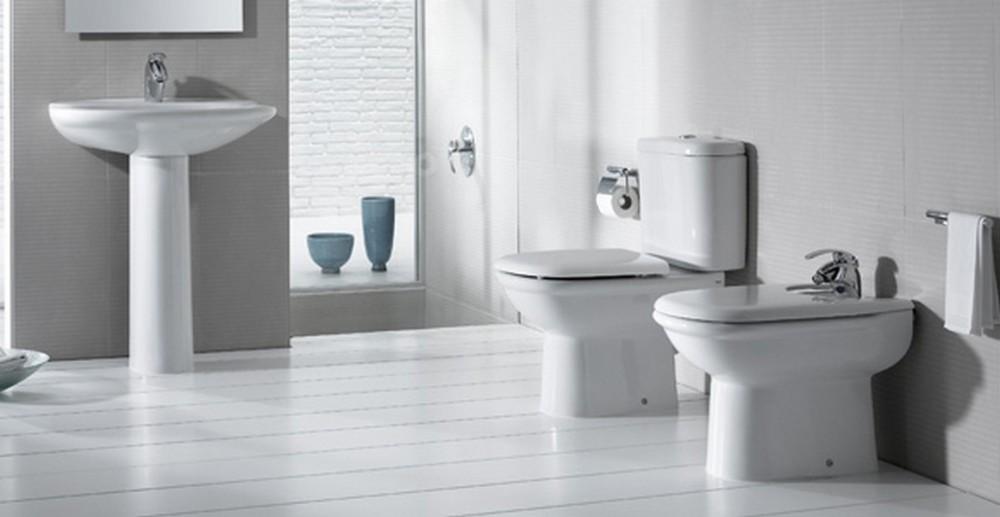 Ванна совмещенная с туалетом белого цвета