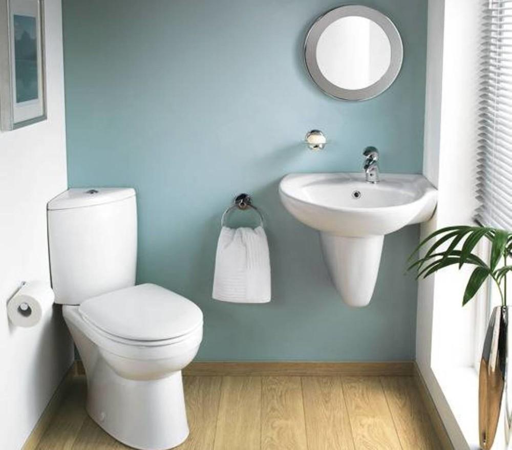 Ванна совмещенная с туалетом с угловым унитазом