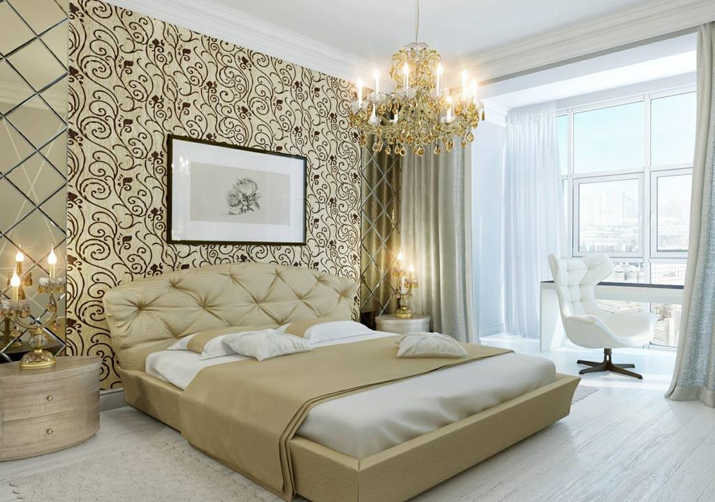 виниловые обои для спальни