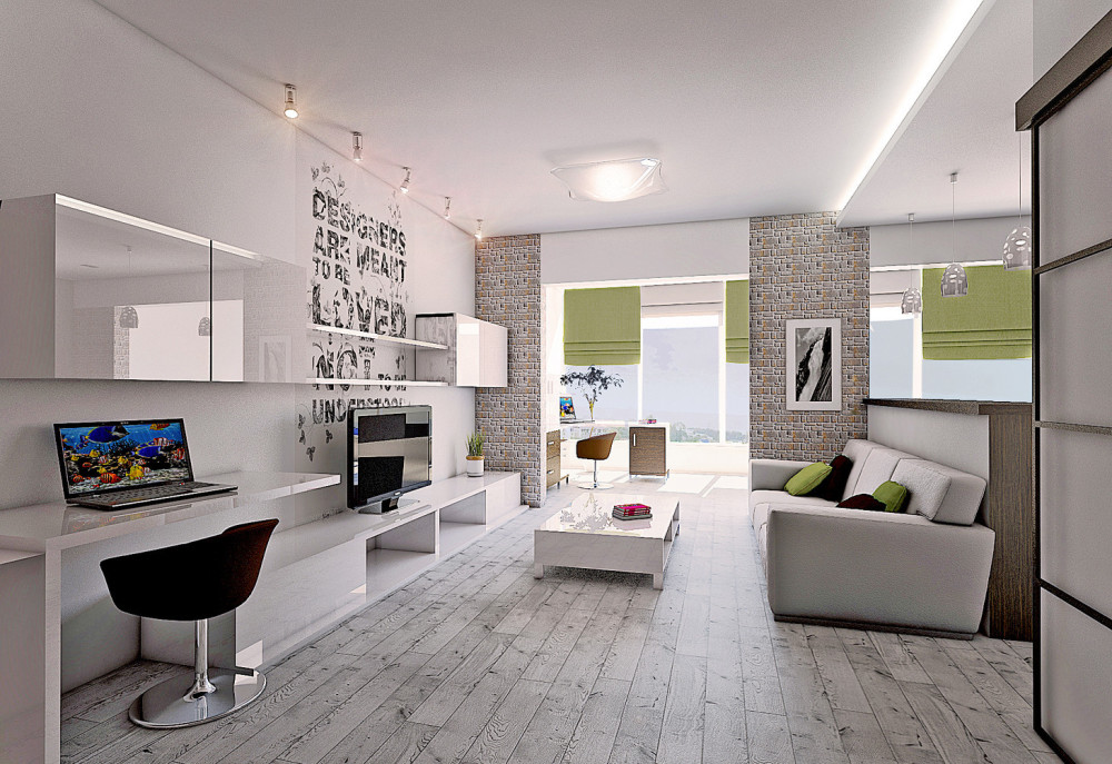 дизайн квартиры площадью 65 кв. м.