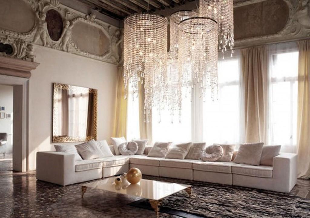 гостиная в французском стиле розового цвета