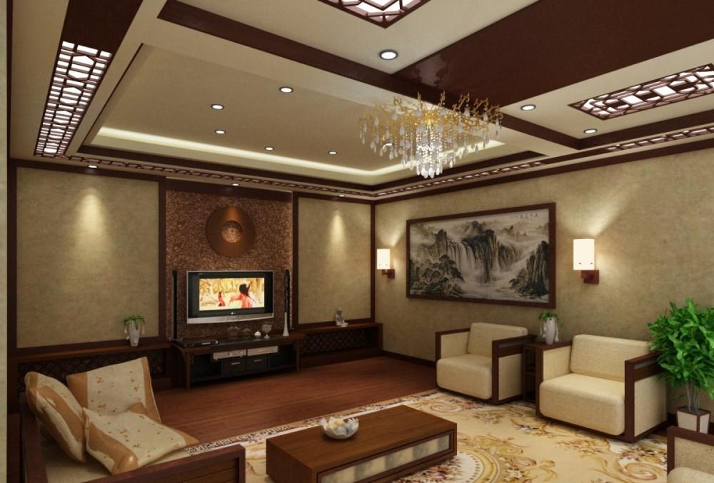 интерьер в китайском стиле с бамбуковыми обоями