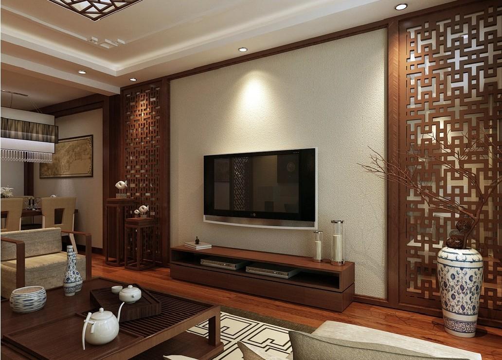 интерьер в китайском стиле с использованием декоративной вазы