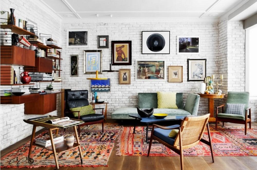 комната в стиле эко-бохо