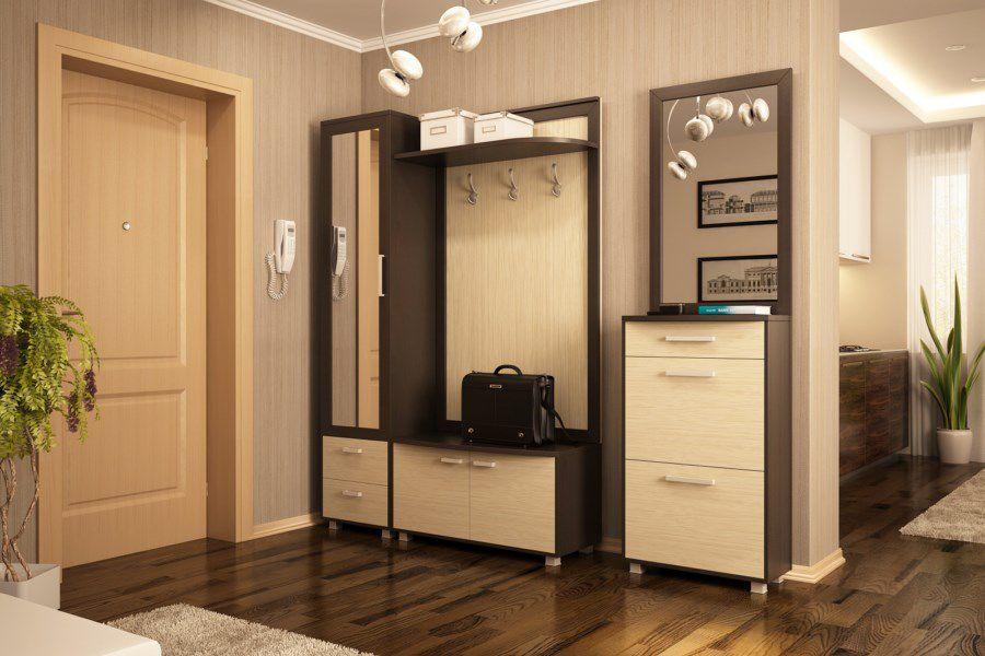 небольшая прихожая, выполненная в едином стиле с другими комнатами