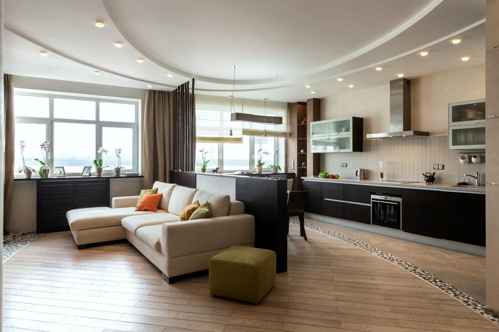 просторная кухня-гостиная