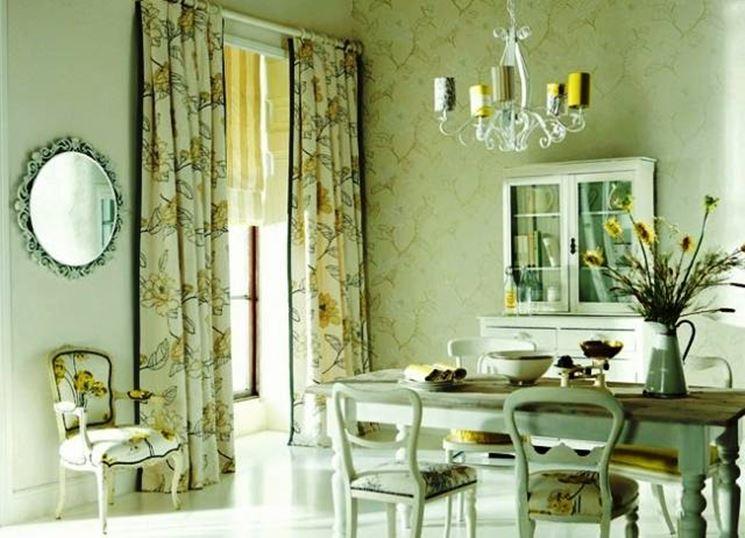 шторы для кухни в стиле прованс