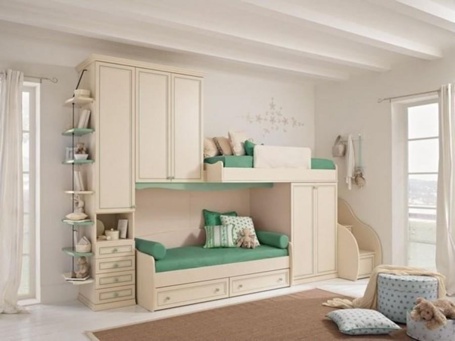 детская для двоих детей с двухярусной кроватью