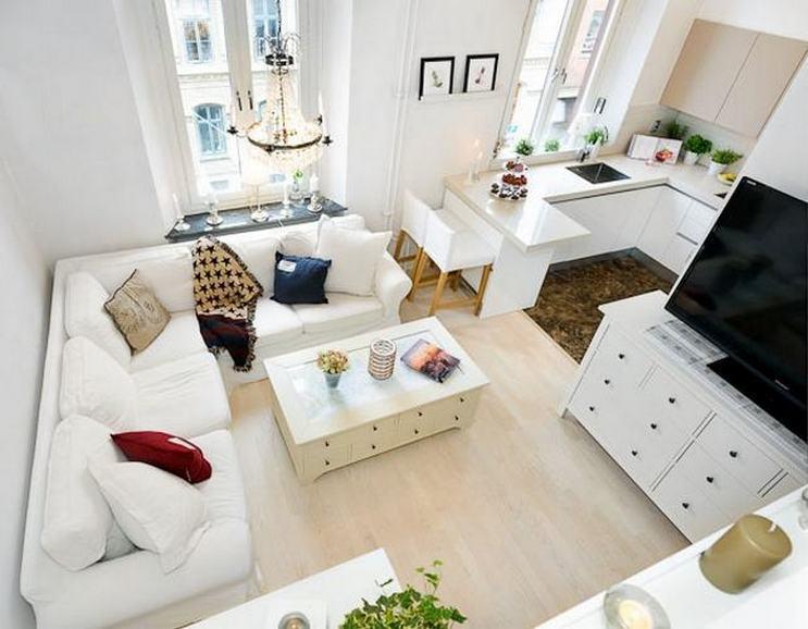 дизайн кухни в квартире студии 30 кв. м.