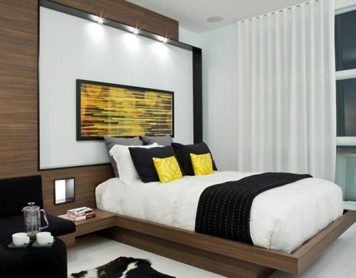 дизайн небольшой спальни в стиле модерн