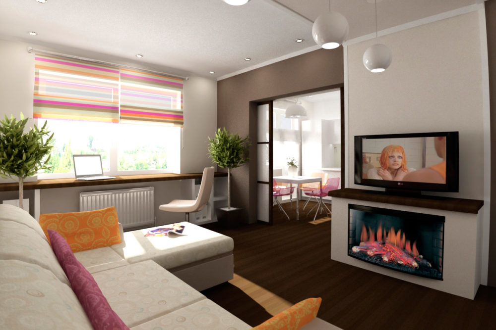 дизайн однокомнатной квартиры 30 кв. м.