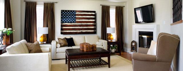 гостиная в американском стиле