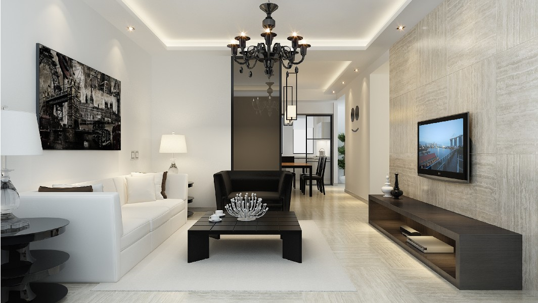 гостиная в стиле минимализм