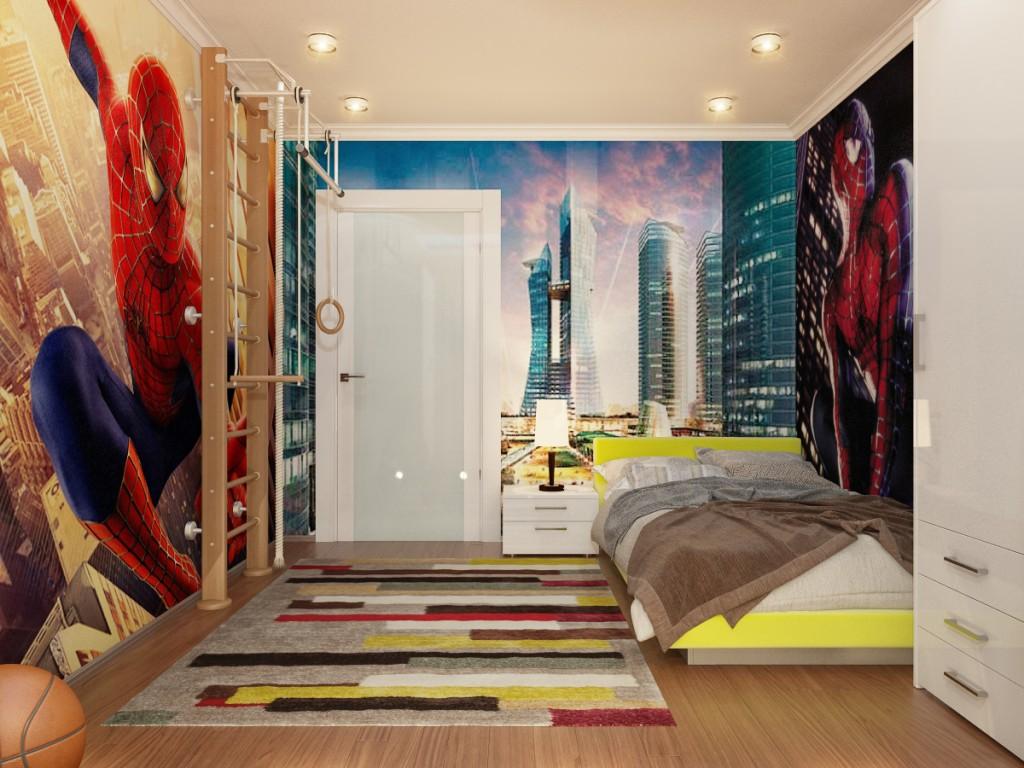 комната подростка с точечными светильниками