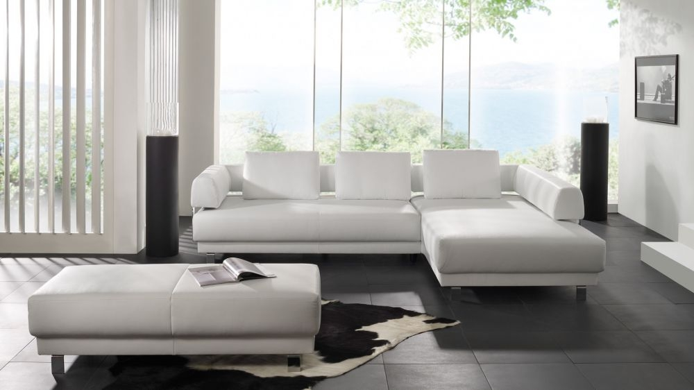 минималистичная черно-белая гостиная