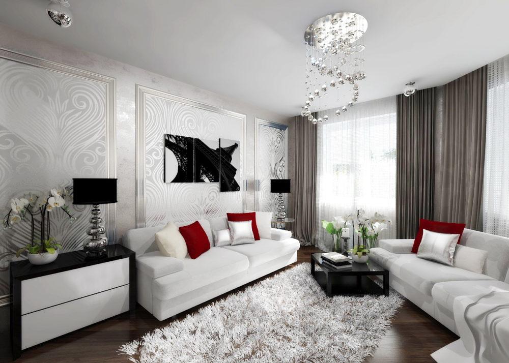 расстановка мебели в пятиугольной комнате