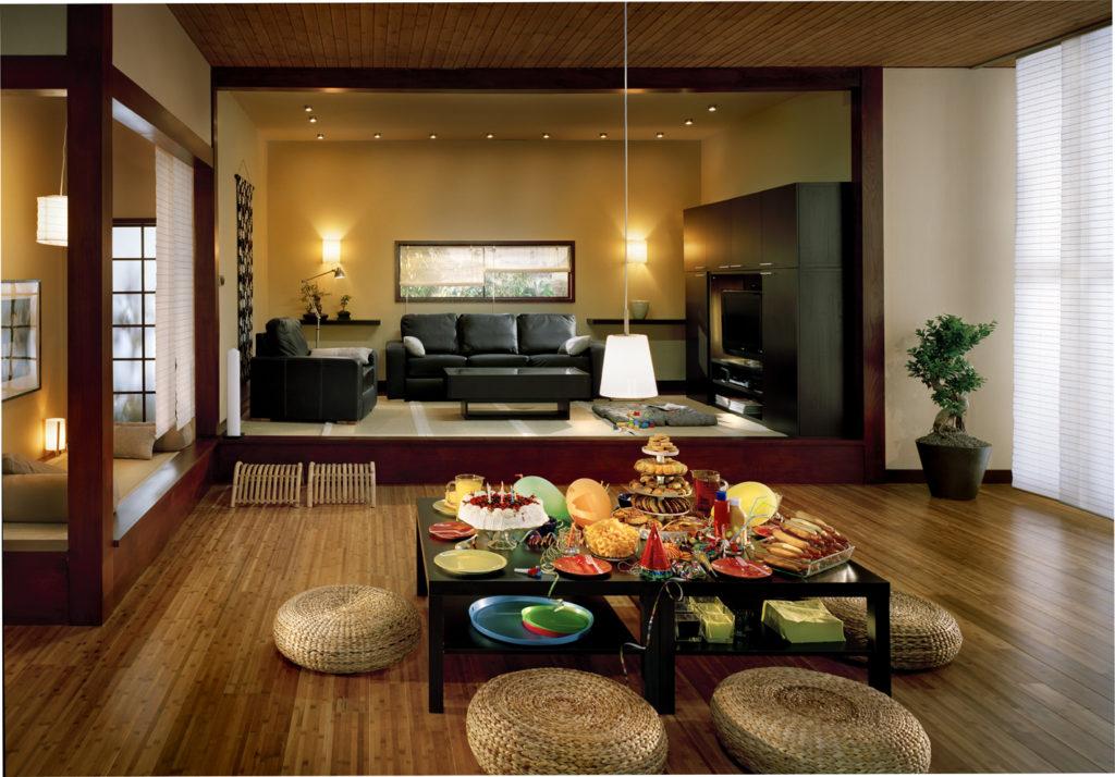 современная комната в восточном стиле