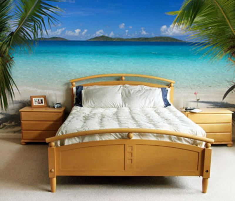 спальня с натуралистичными фотообоями